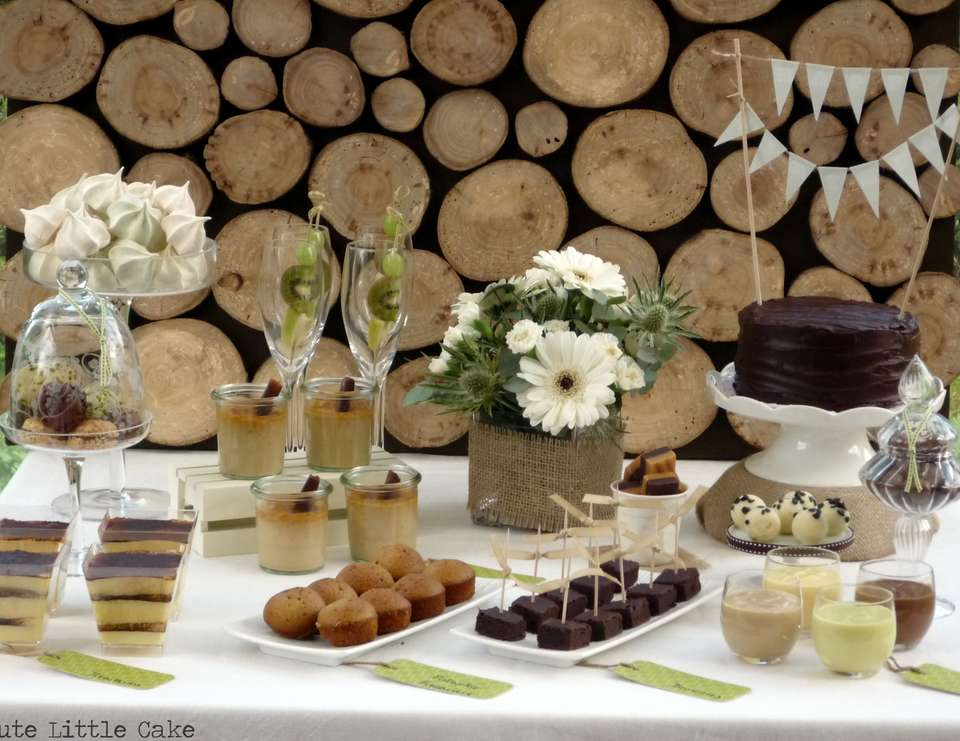 A natural dessert table - None