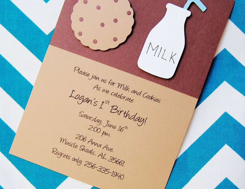 Logan's First Birthday Party - Cookies and Milk Party Featuring Cookie Monster!