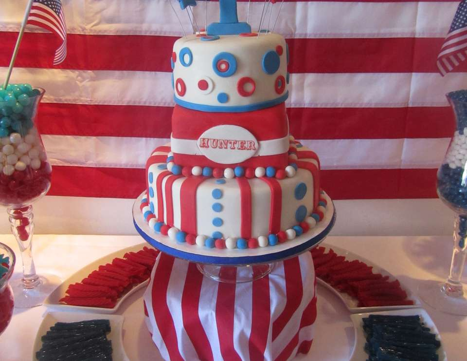 Hunter's First Birthday - Patriotic