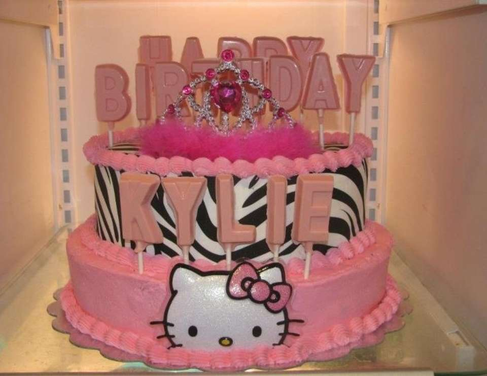 kylies first birthday - Hello Kitty zebra 1st Birthday