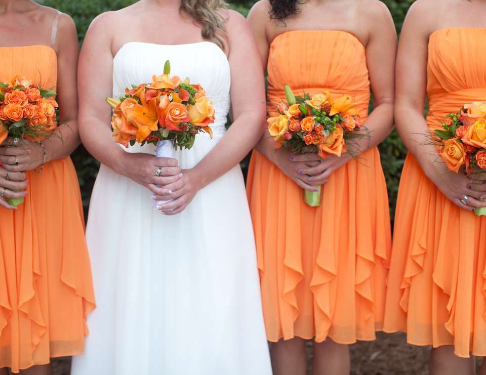 Destination Beach Ceremony - Orange and Lime green