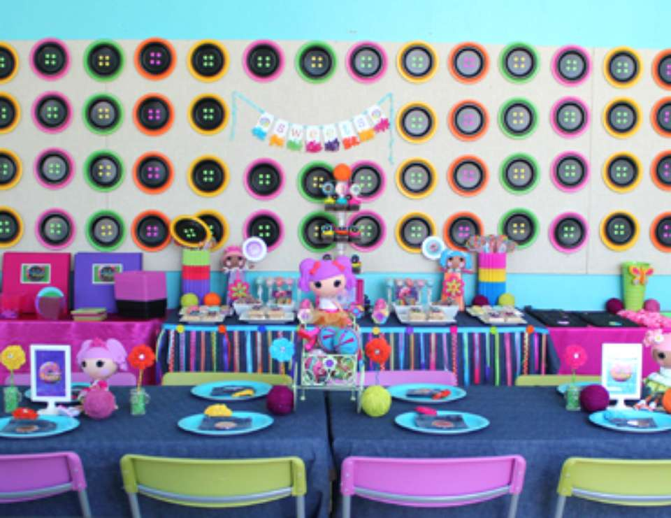 """Cute As A Button"" party - Lalaloopsy inspired"