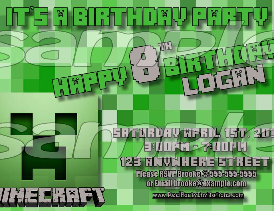 Minecraft Birthday Party - Minecraft Birthday Party