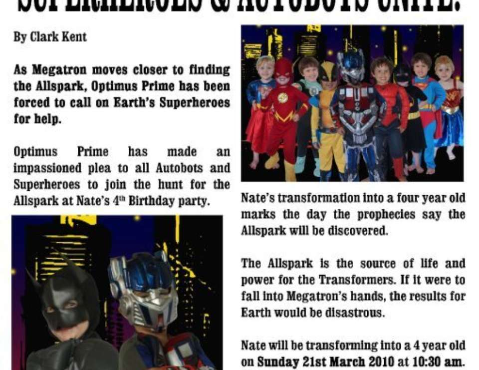 Superheroes and Autobots Unite - Superheroes and Transformers