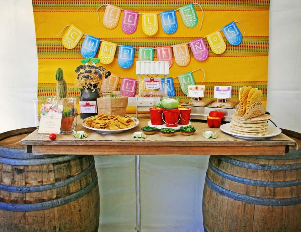 Fiesta Mexican Party Ideas For A Grown Up Birthday Catch My Party