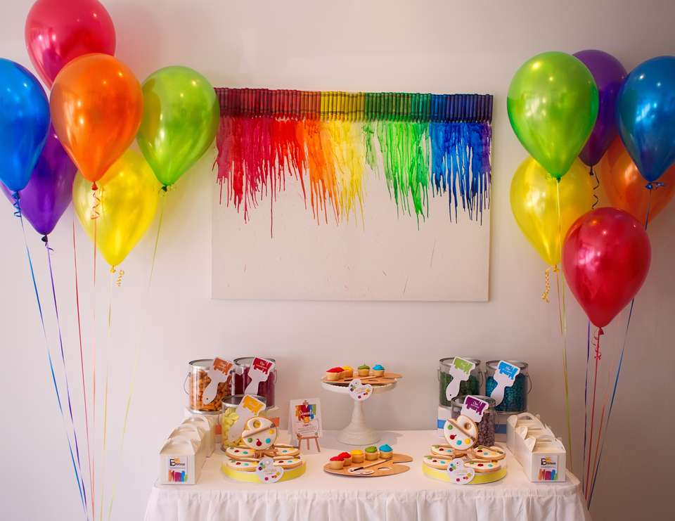 Bellezza Interiors Kids Decorating Party - Art Party