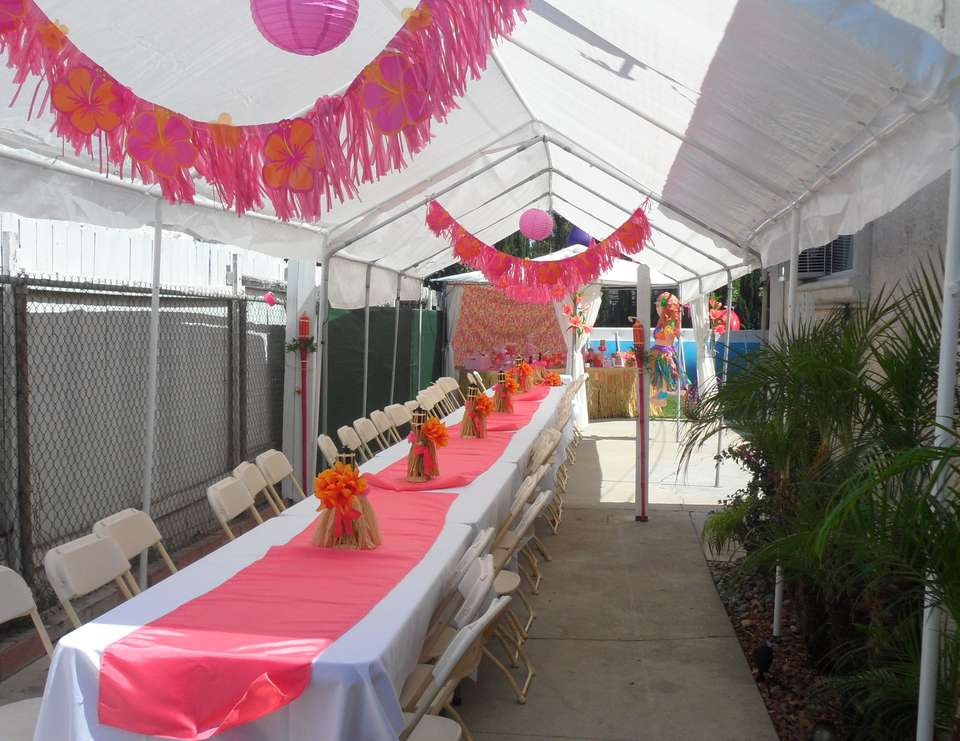 Pink Orange Luau - Luau Theme