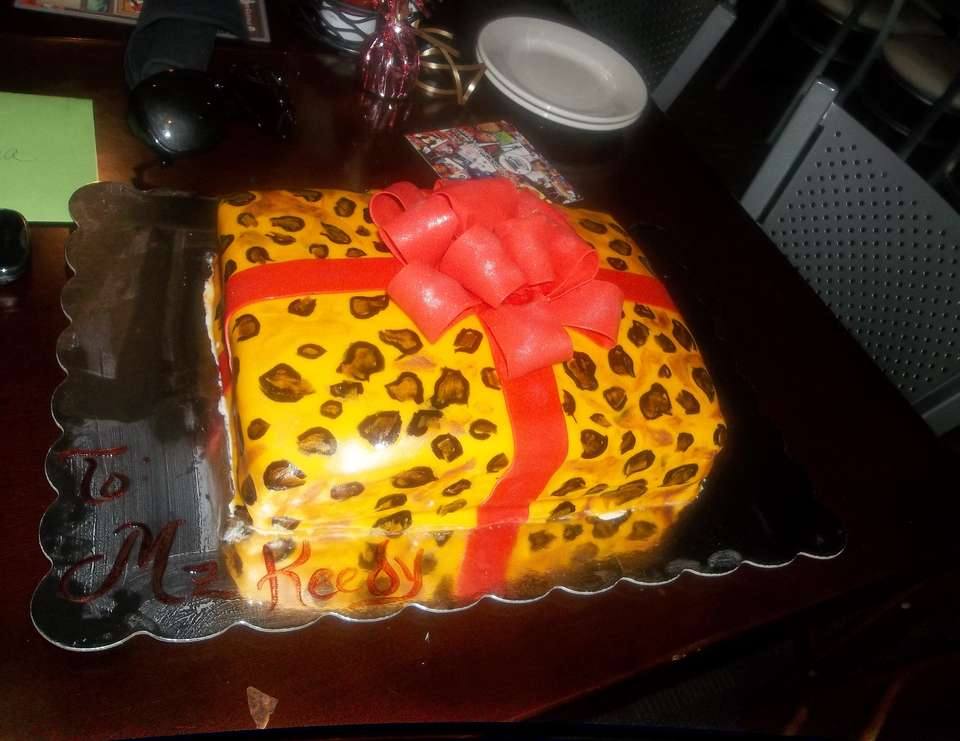 My birthday dinner party - Leopard Black And Red