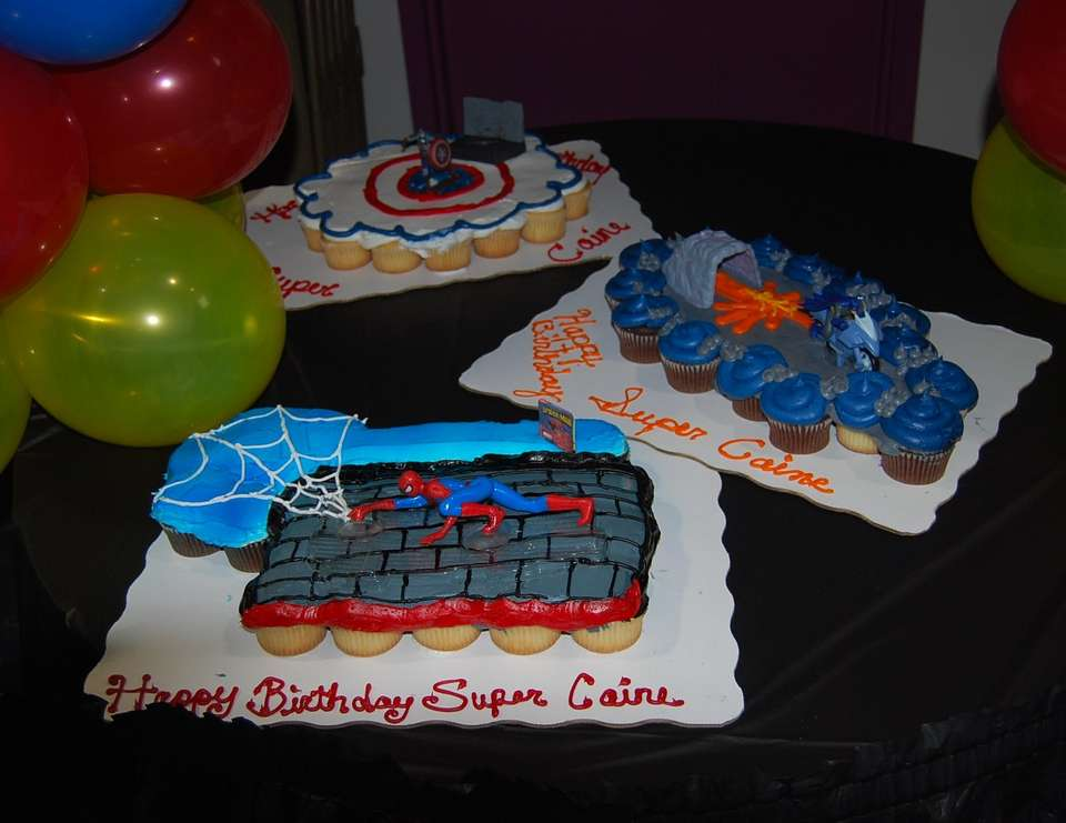 Caine's Super 1st birthday - Super Hero Squad/Marvel Characters