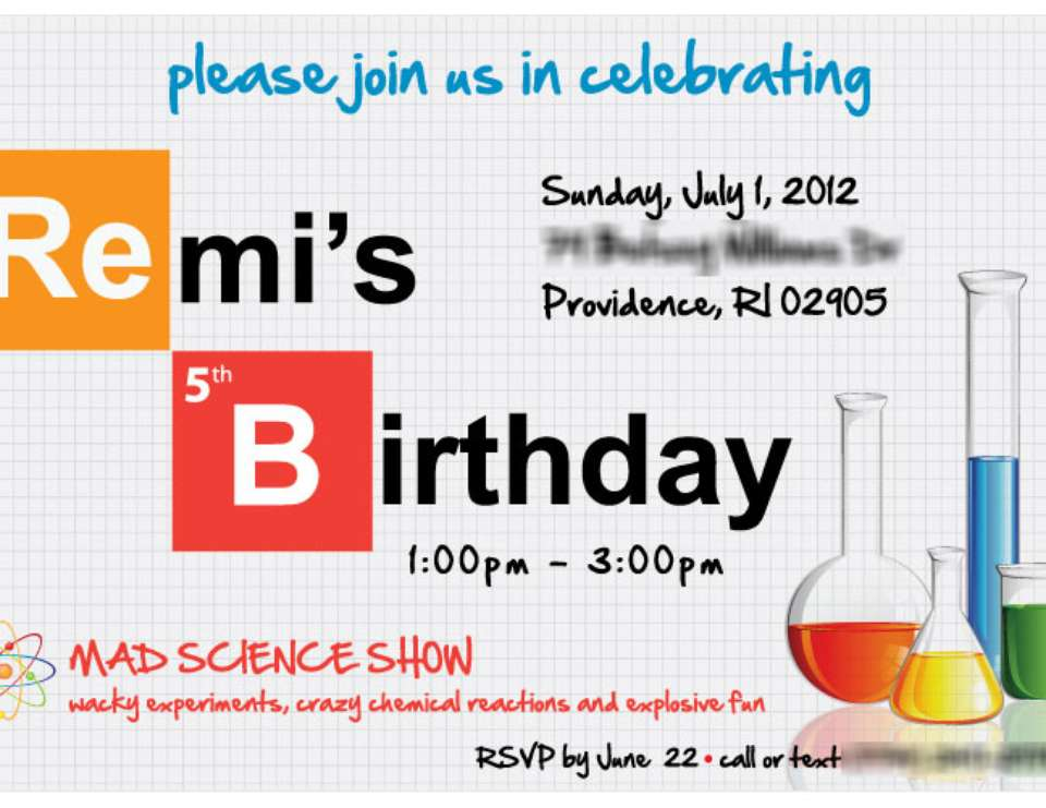 "Remi""s 5th Birthday - Science, Mad Scientist"