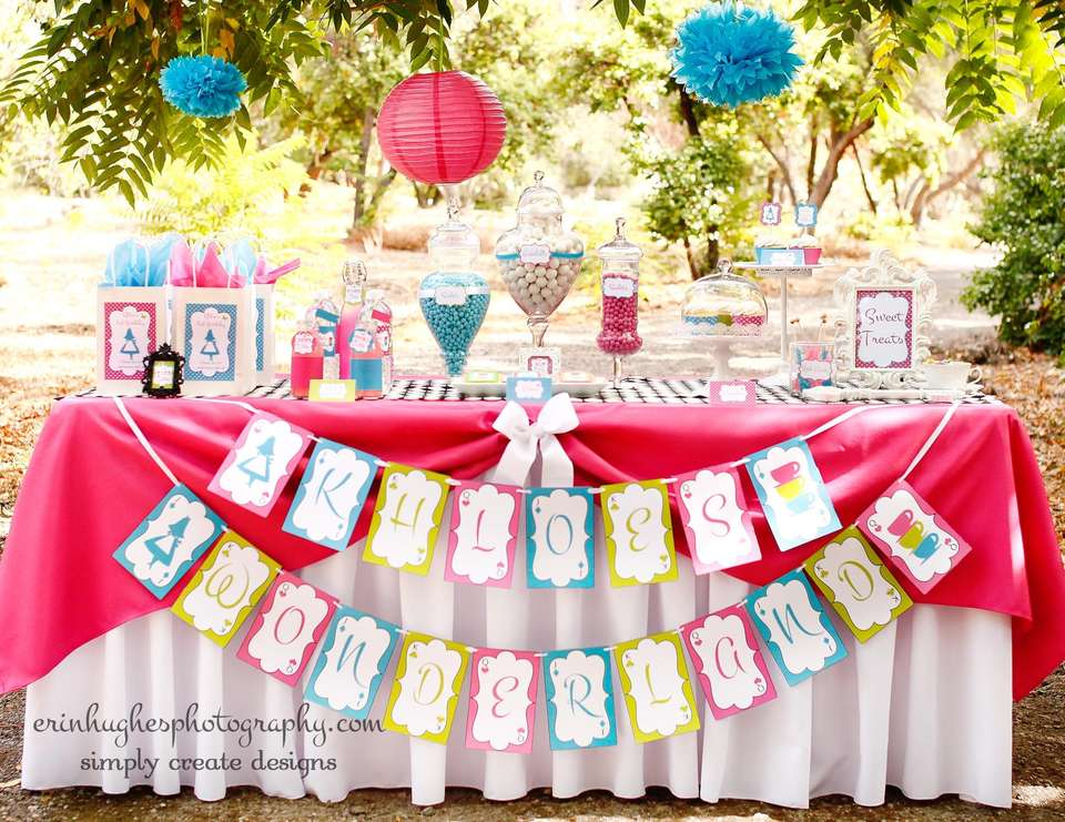 Khloe's Birthday - A Whimsical Alice in Wonderland