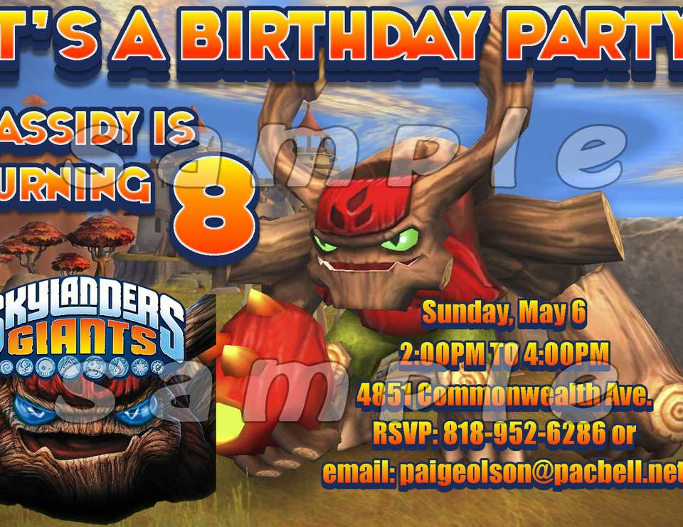 NICHLOAS' SKYLANDERS GIANTS BIRTHDAY PARTY - SKYLANDERS GIANTS