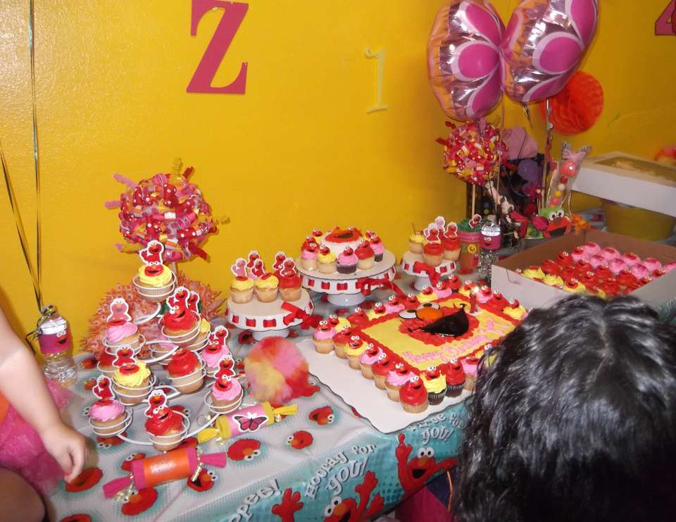 Zoeys 1st Birthday - Elmo Monarch Butterfly