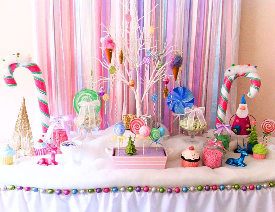 A Glittery Christmas Candy Land - None