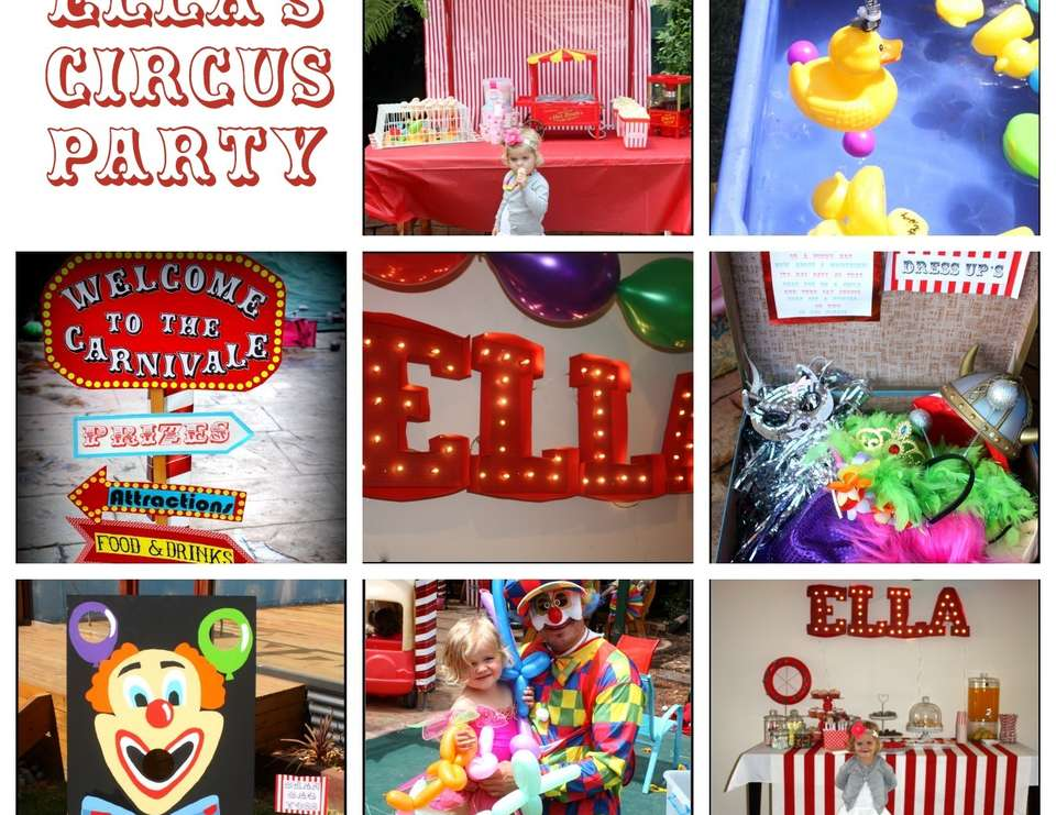 Ella's 3rd Birthday - Circus /Carnival Party
