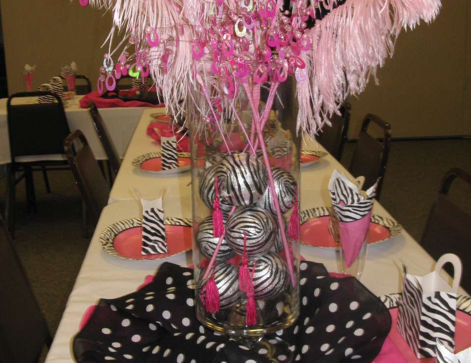 Meeyah's Girly Shower - Zebra and hot pink