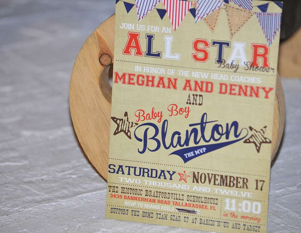 Vintage Baseball Baby Shower - Vintage Baseball