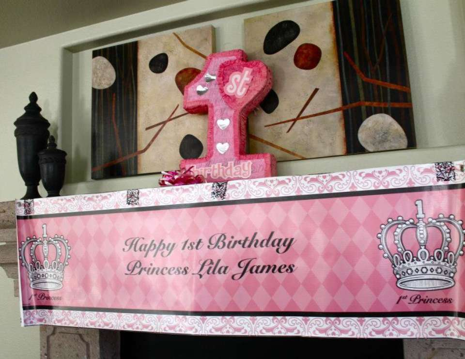 Lila's 1st Birthday - pink/damask princess party