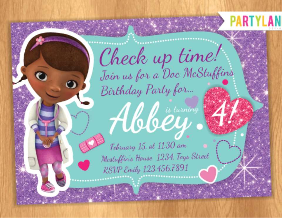 doc mcstuffins party invitations – gangcraft, Party invitations