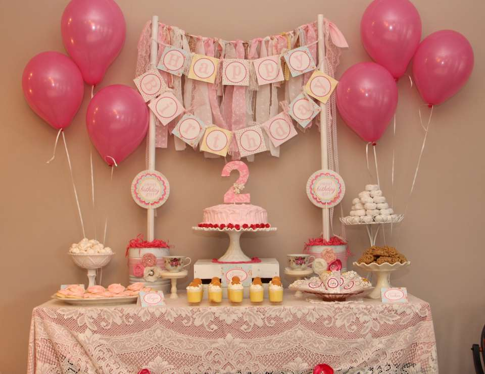 Shabby Chic 2nd Birthday Party - Shabby Chic