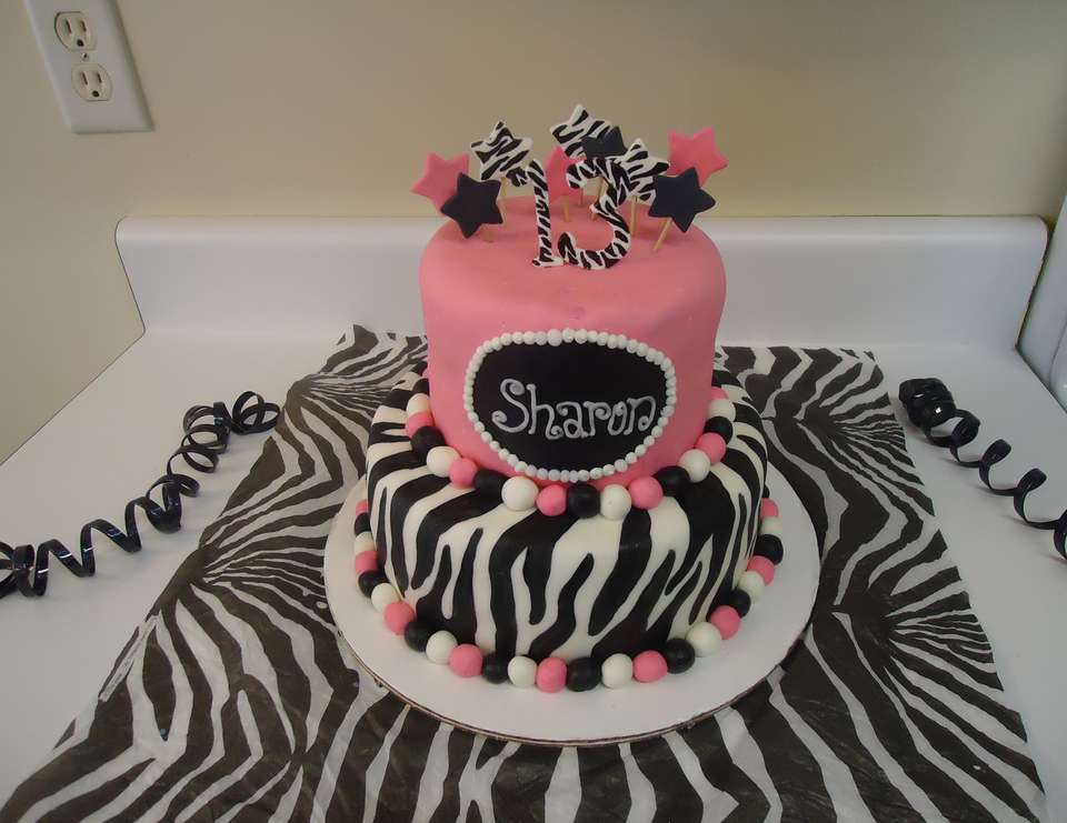 Sweet 13! - Pink/Zebra Theme