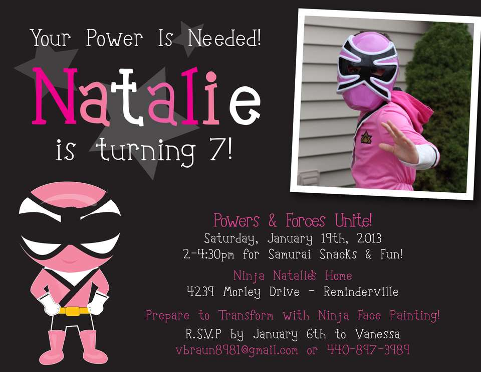 Power Rangers Party Ideas for a Girl Birthday – Power Rangers Party Invitations