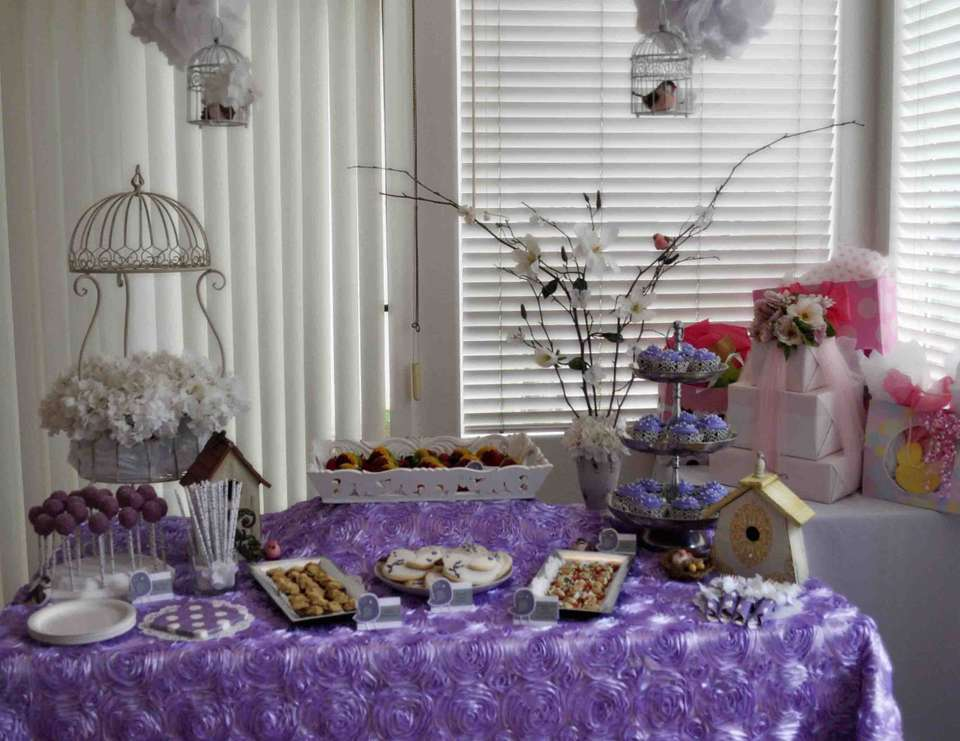 Lavender Baby Bird Shower   Lavender Baby Bird Shower