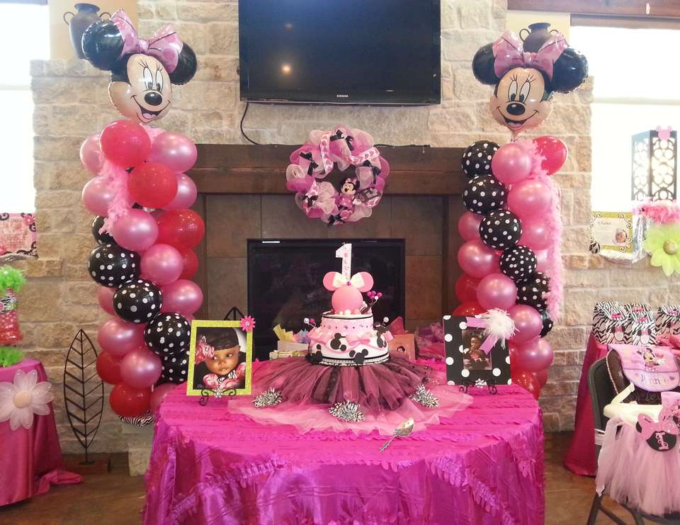 Minnie Mouse Birthday Ellies 1st Birthday Celebration Catch