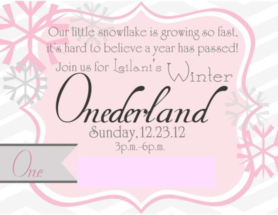 leilanis winter onederland winter wonderland - Winter Onederland Party Invitations