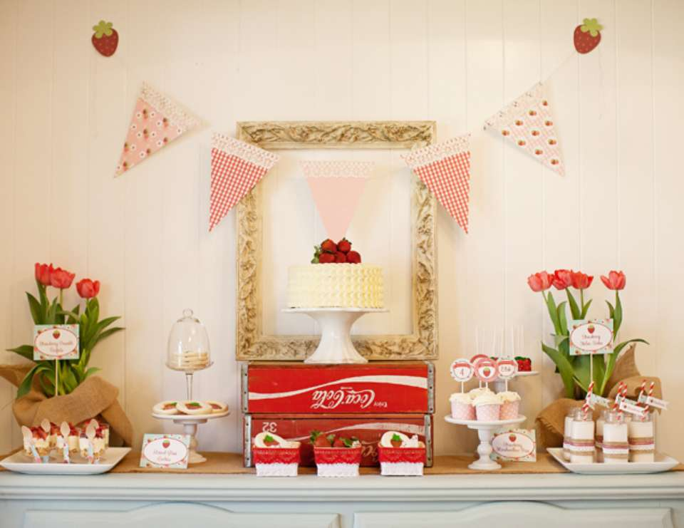 Berry Sweet Strawberry Birthday Party - Strawberry Shortcake and Strawberries