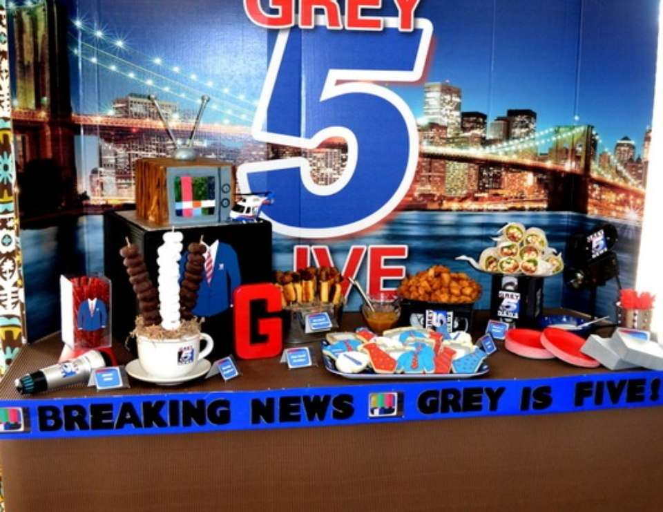 LIVE at FIVE TV News Inspired Birthday - None