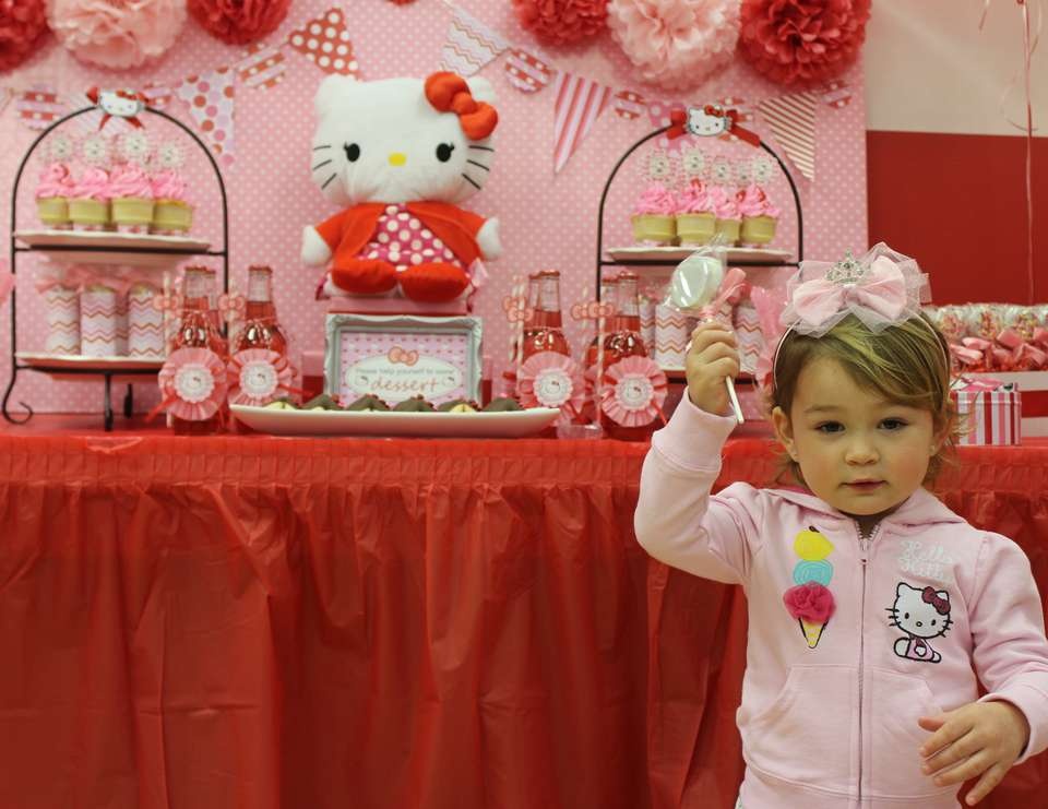 Harper's 2nd Birthday Party - Hello Kitty Pink & Red