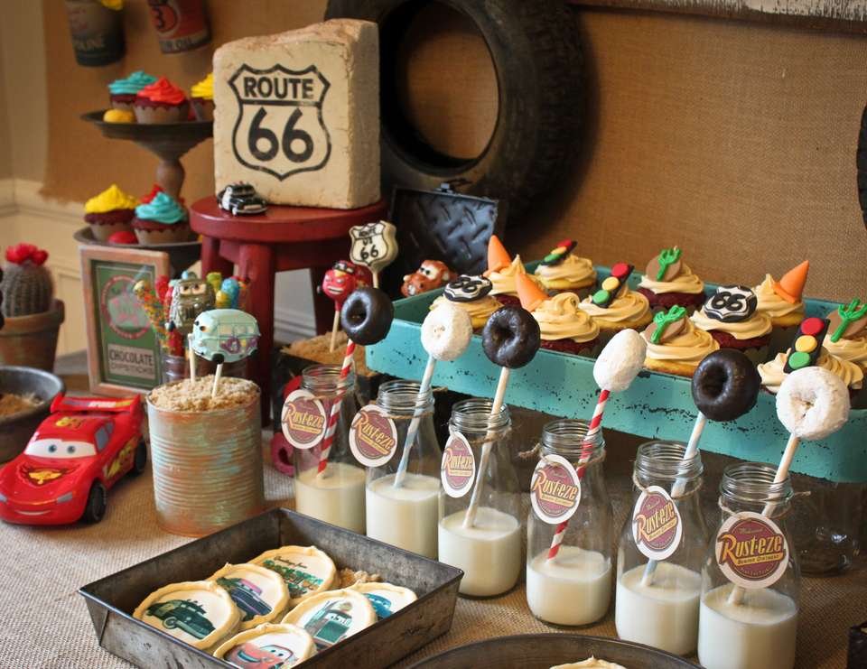 Vintage Radiator Springs Birthday Party Birthday Vintage Cars