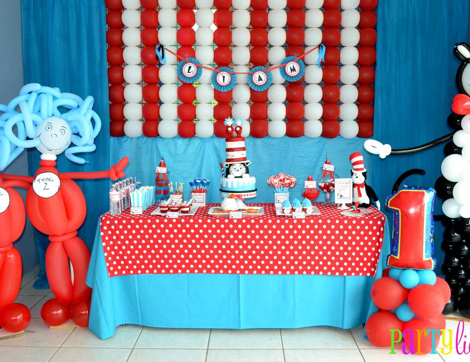 {Cat in the Hat Birthday} - Dr. Seuss