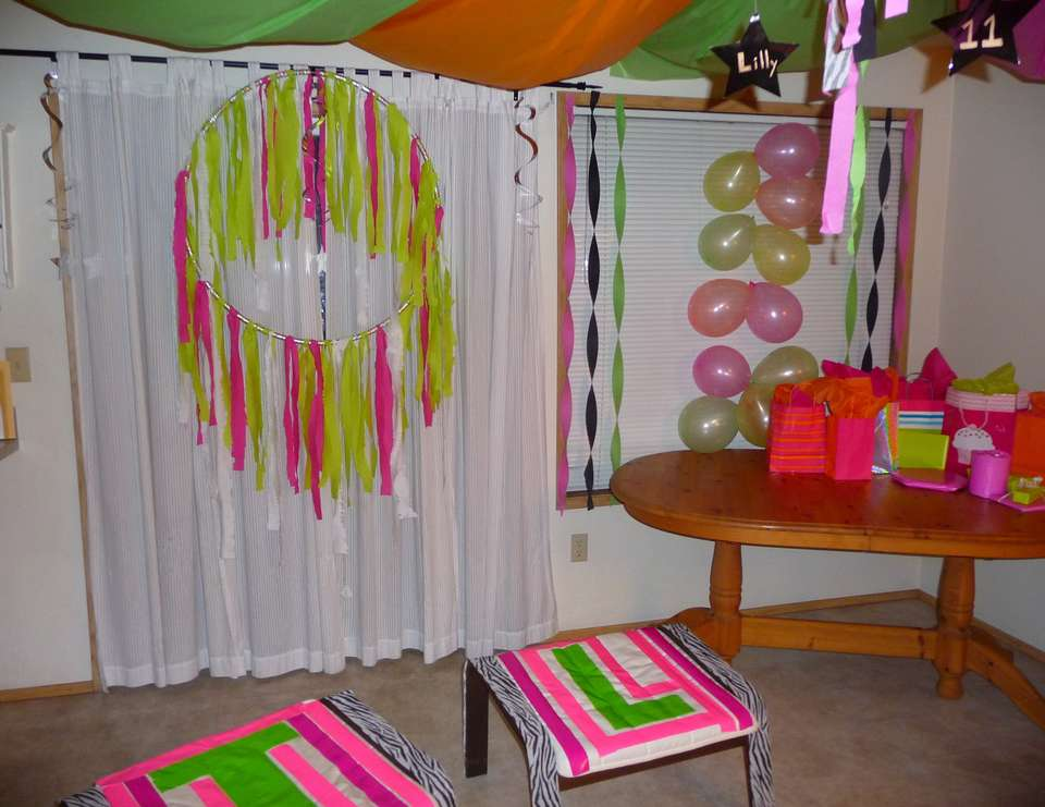 Tabitha and Lilly's 11th birthday - Black light/neon