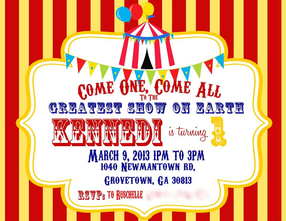 Kennedi's Carnival Themed First Birthday - Carnival