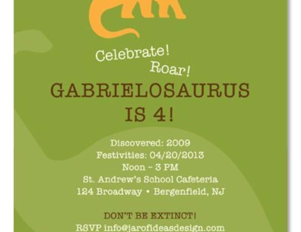 Gabrielosauruses 4th Birthday! - Dinosaur