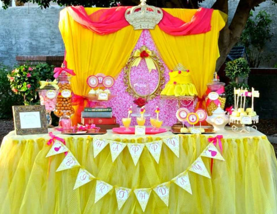 beauty and the beast birthday belle princess party catch my party. Black Bedroom Furniture Sets. Home Design Ideas