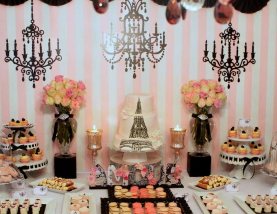 vintage parisian bridal shower