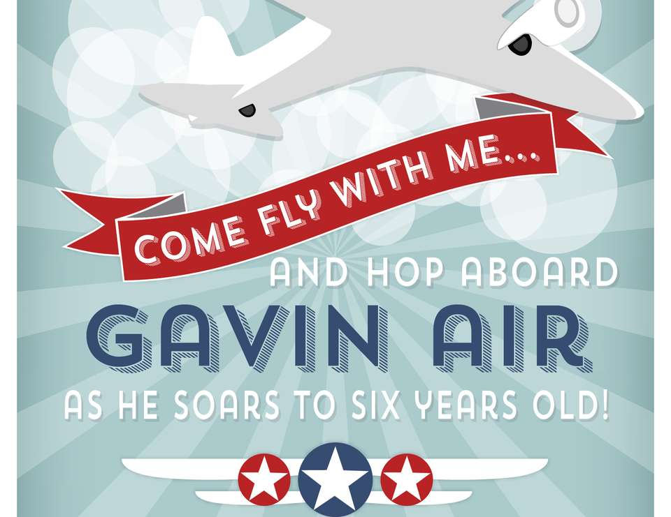 Gavin Soars to Six - Airplanes