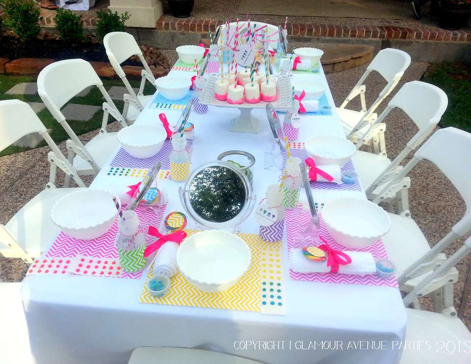 Dylan's Candy Bar Inspired Birthday Party - Candy Shoppe - Spa & Beauty Themed