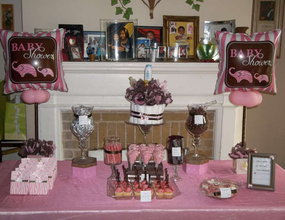 Red's Baby Shower - Pink/Zebra & Chocolate Baby Shower