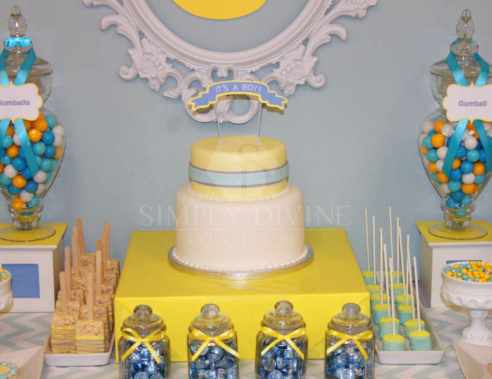 Blue-Grey+Yellow Baby Shower - None