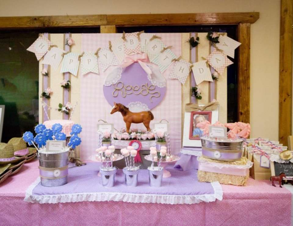 Girly Giddy Up Birthday Party - Horse Party