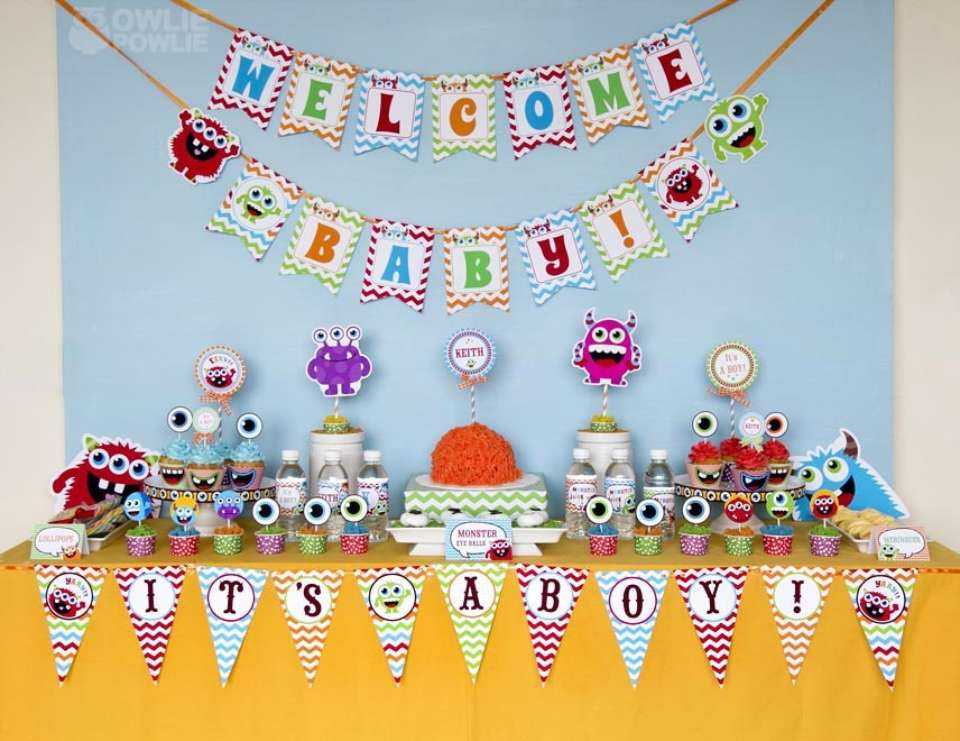 Monster Bash Colorful Baby Shower - Little Monsters