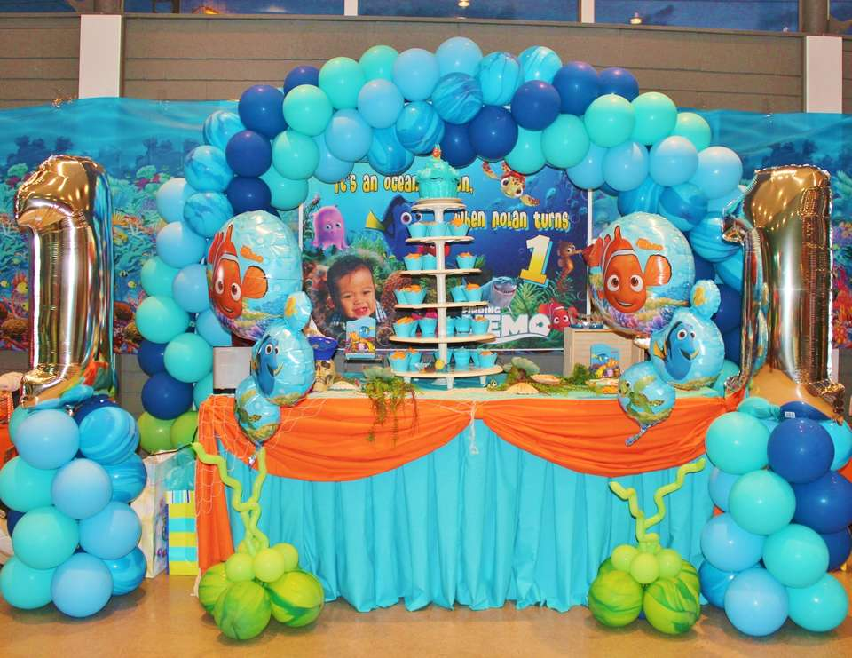 Nolan's 1st birthday - Finding Nemo theme