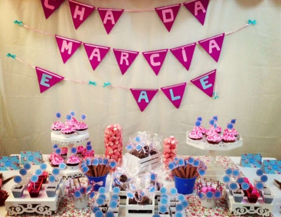 Bridal Shower - Marcia e Alexandre - Pink and blue