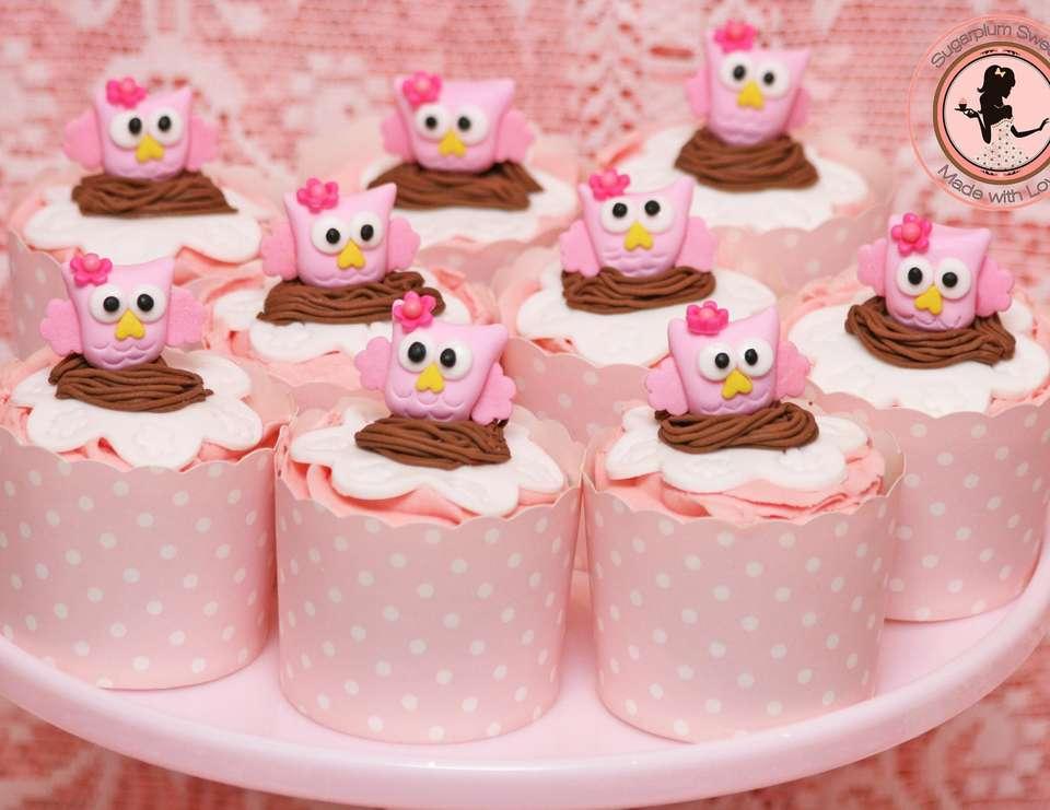 Pink Owl Baby Shower - None