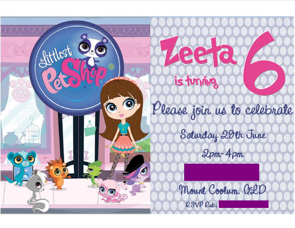 Zeeta's 6th Birthday - Littlest Pet Shop