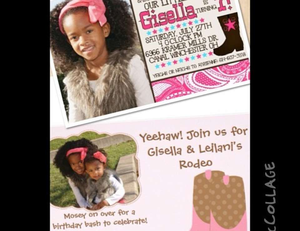 Gisella & Leilani's Cowgirl Rodeo party - Cowgirl